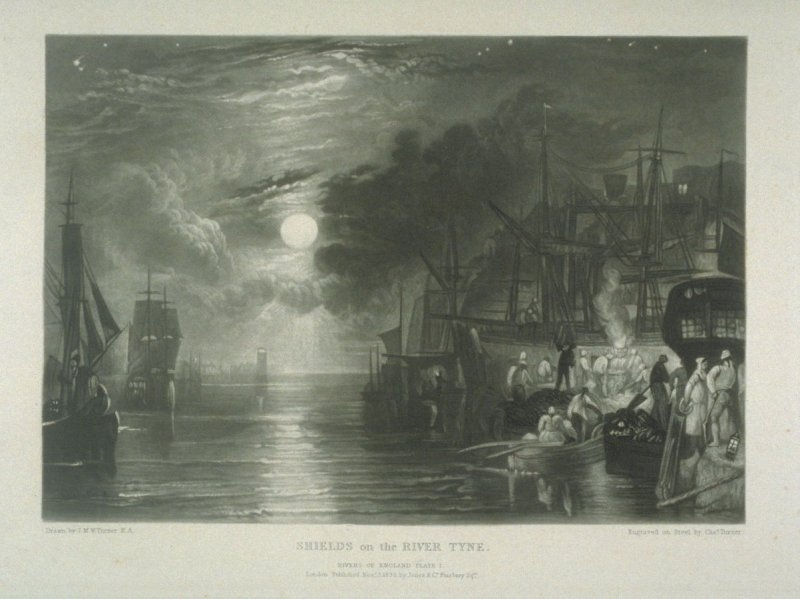 Plate 1: Shields on the River Tyne, from the series 'The Rivers of England'