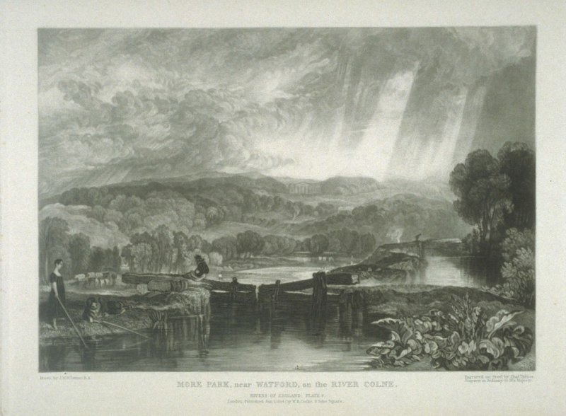 Plate 4: More Park, near Watford, on the River Colne, from the series 'The Rivers of England'