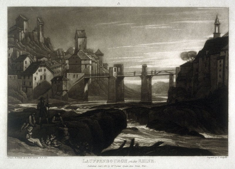 Lauffenbourgh on the Rhine, from Turner's 'Liber Studiorum'