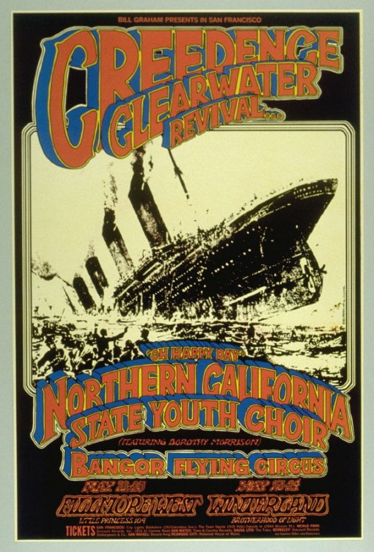 Creedence Clearwater Revival, Northern California State Youth Choir with Dorothy Morrison, Bangor Flying Circus, May 22 & 25, Fillmore West, May 23 & 24, Winterland