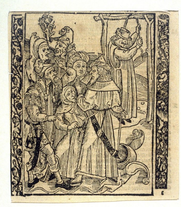 """Foreign Fools: woodcut illustration for the original edition of the """"Narrenschiff"""" (Ship of Fools), taken from the Latin reprint edition Basel"""