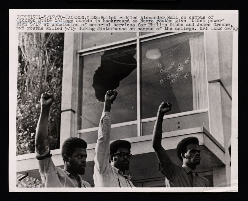 "Negro Youths Give ""Black Power"" Sign"