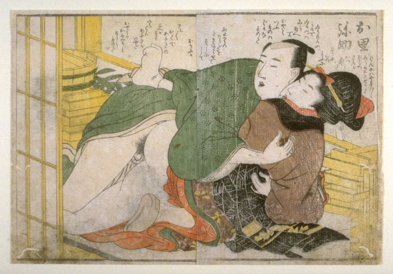 Shunga print from the series Michiyuki koi no futusao