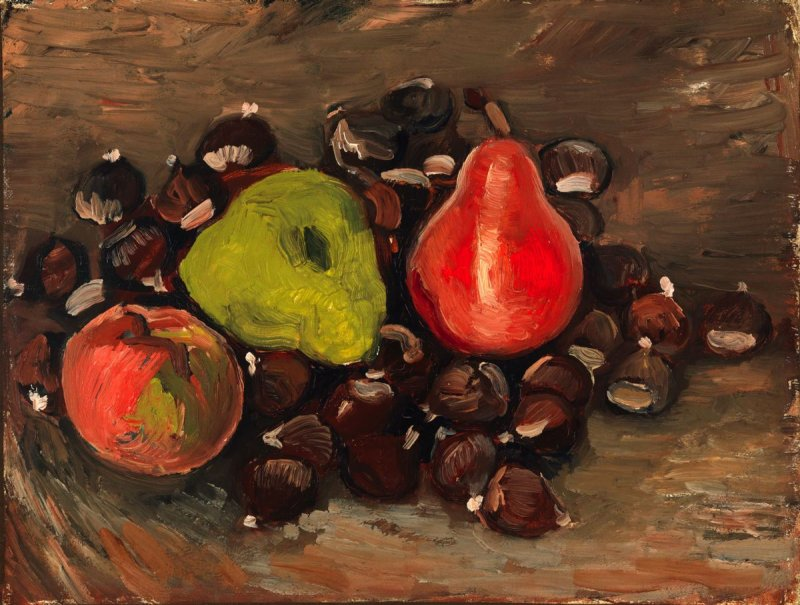 Still Life with Fruit and Chestnuts