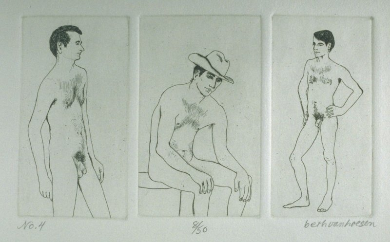 Three plates, pl. 4 from the bound portfolio, The Nude Man (Berkeley: Crown Point Press, 1965)
