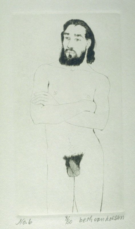 P. standing, pl. 6 from the bound portfolio, The Nude Man (Berkeley: Crown Point Press, 1965)