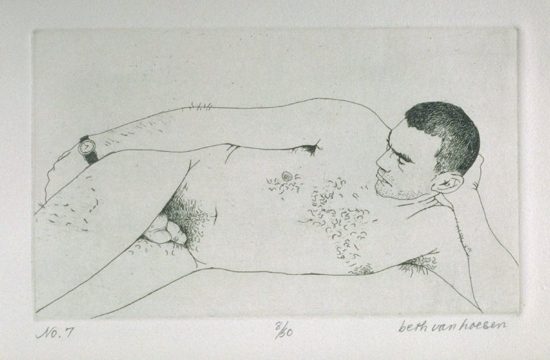 Reclining, pl. 7 from the bound portfolio, The Nude Man (Berkeley: Crown Point Press, 1965)