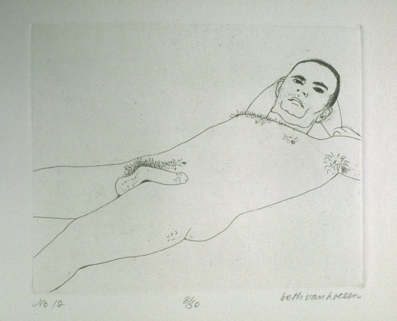 Reclining II, pl. 12 from the bound portfolio, The Nude Man (Berkeley: Crown Point Press, 1965)