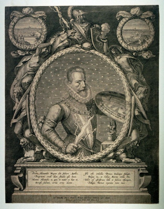 Portrait of Alexander Farnese, Duke of Parma and governor of the Netherlands