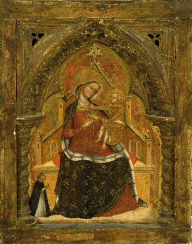 Madonna Enthroned with Kneeling Dominican Monk