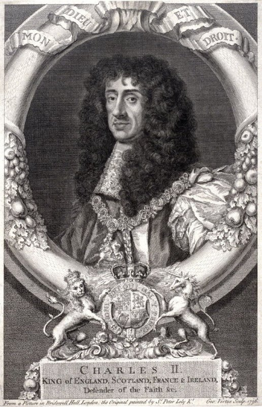 Portrait of Charles II, King of England, Scotland, France and Ireland