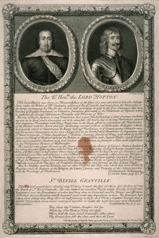 Lord Hopton / Sir Bevill Granville; from the series 'Loyalists'