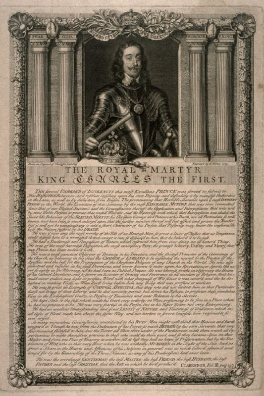 Portraits of the Royal Martyr King Charles I; from the series 'Loyalists'