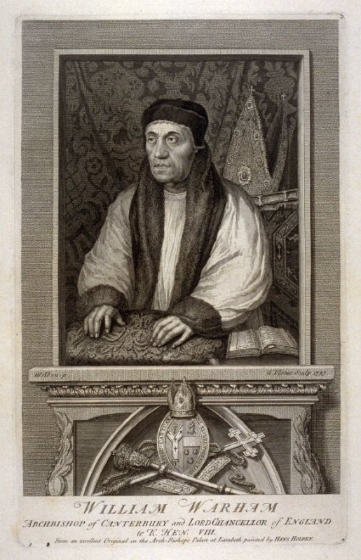 William Warham, Archbishop of Canterbury and Lord Chancellor of England to Henry VIII