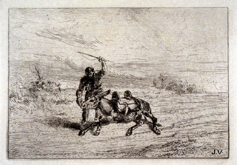 Man with a mule