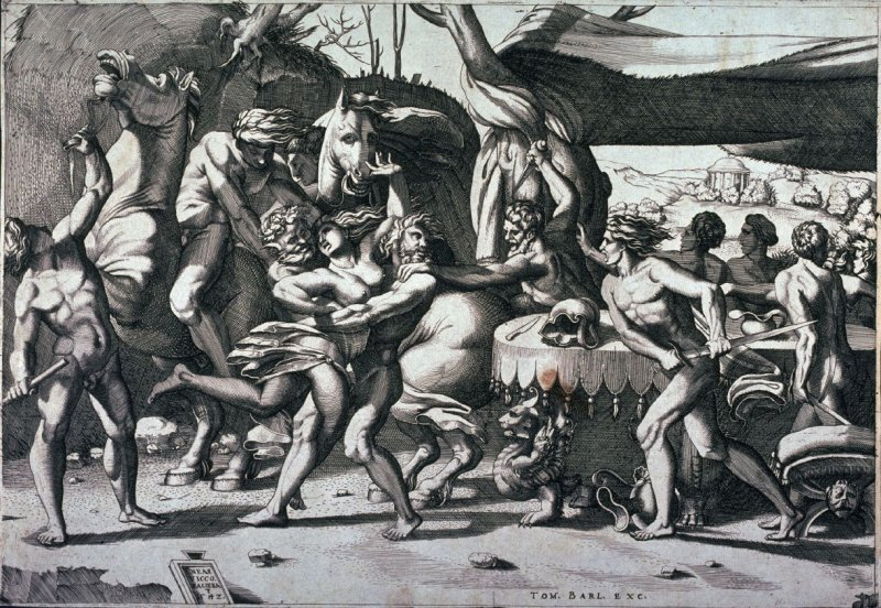 The Battle of the Lapiths and the Centaurs