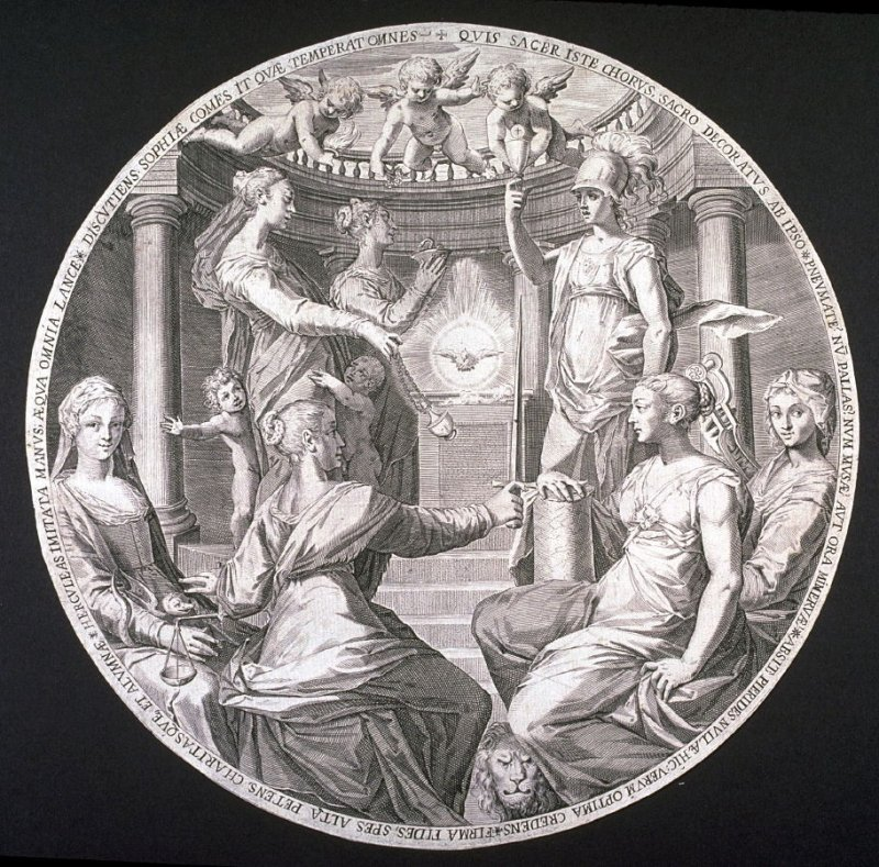 Minerva and the Virtues