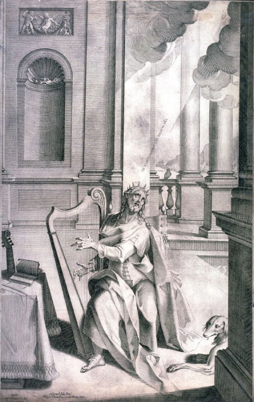 Christ Playing the Harp