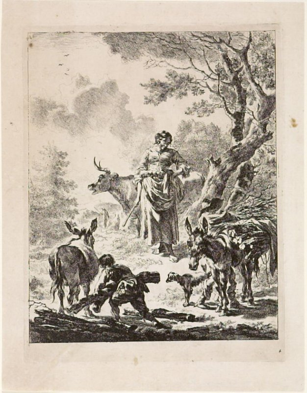 Plate 4, The Boy Carrying a Tree Trunk
