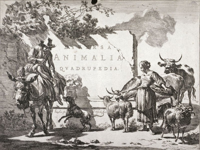 A Fountain, title page of the series Landscapes with Quadrupeds