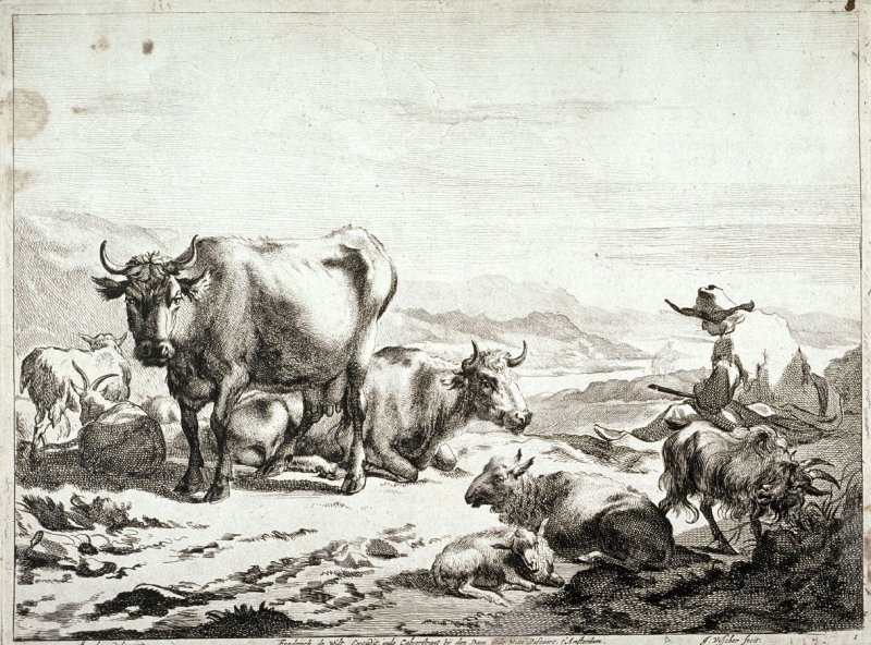 Resting Herd from a series of Pastoral Landscapes