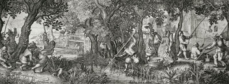 Fishing, from a series of hunting scenes