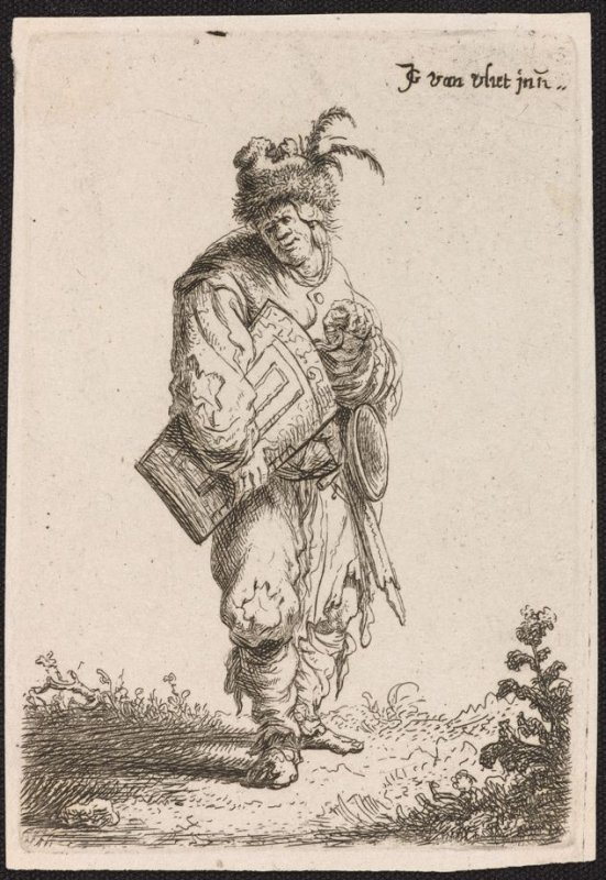 The Hurdy-Gurdly Player from the series Beggars and other low life