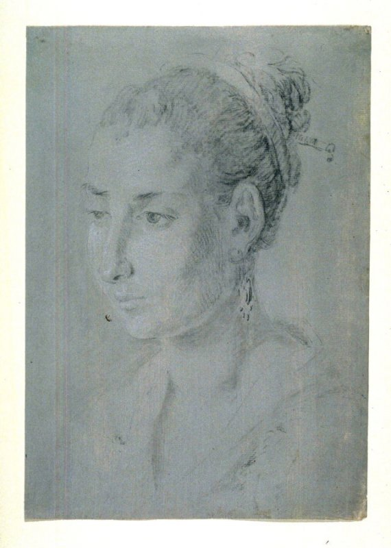 Bust View Portrait of Young Woman
