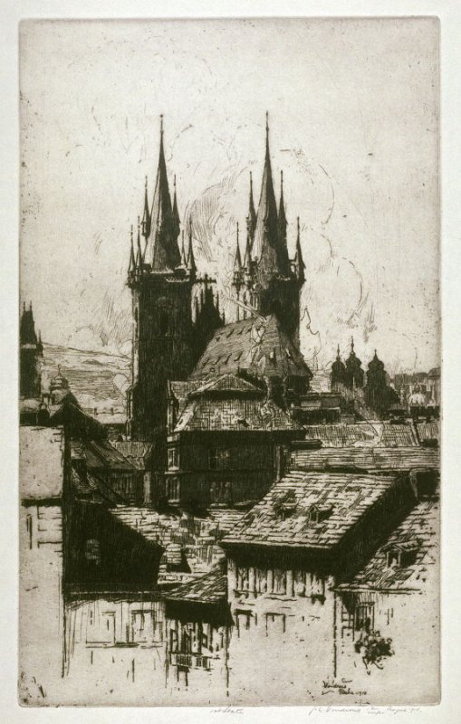 Ty'n Church from the East- Prague
