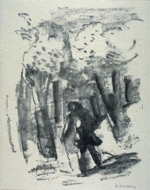 Wanderers Nachtlied #1 - Illustration to a poem by Goethe