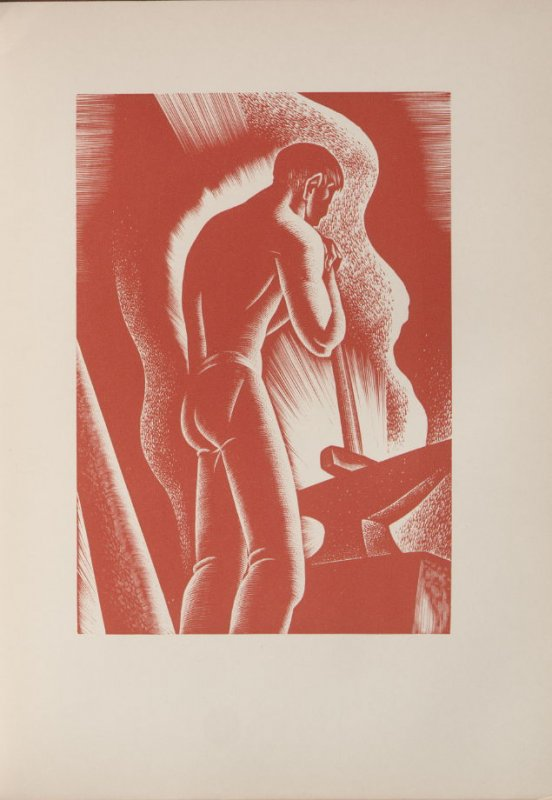 Untitled, illustration 70, in the book Wild Pilgrimage by Lynd Kendall Ward (New York: Harrison Smith & Robert Haas, 1932)