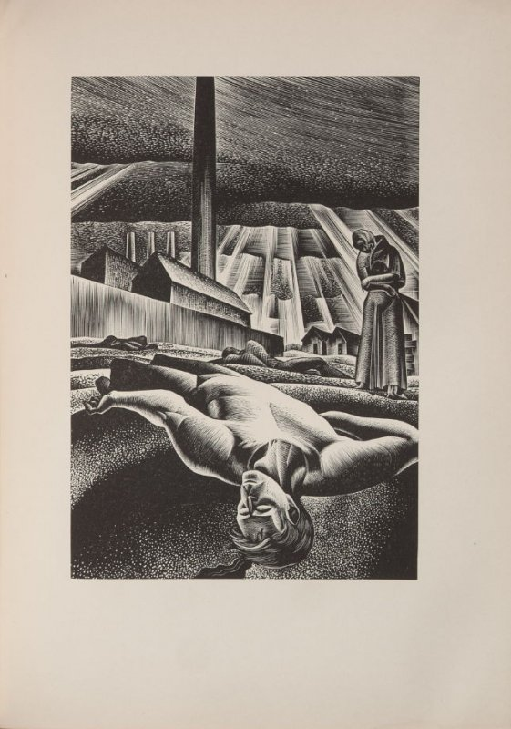 Untitled, illustration 95, in the book Wild Pilgrimage by Lynd Kendall Ward (New York: Harrison Smith & Robert Haas, 1932)