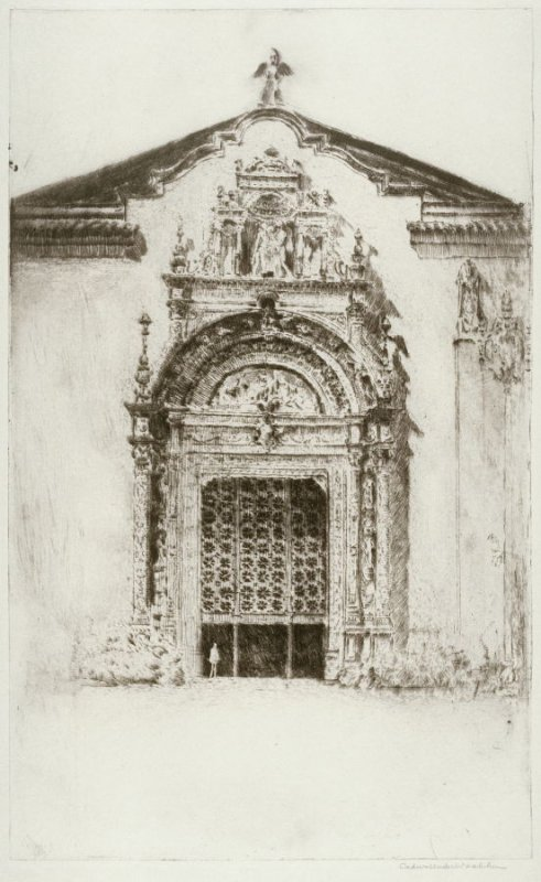 Doorway of Palace of Varied Industries (Panama-Pacific International Exposition)