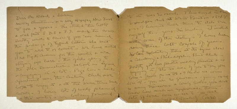 [Letter to accompany works by Caro Ely]