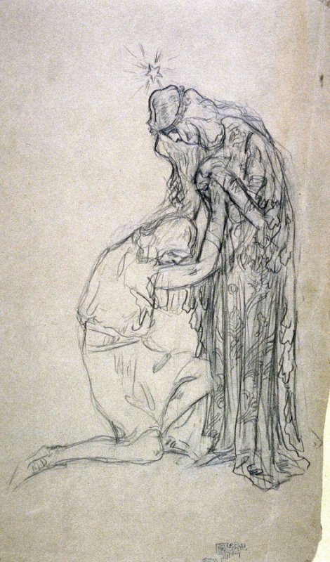 Young lovers. - One from the Studies and Sketches for the Murals in the New Amsterdam Theatre, New York