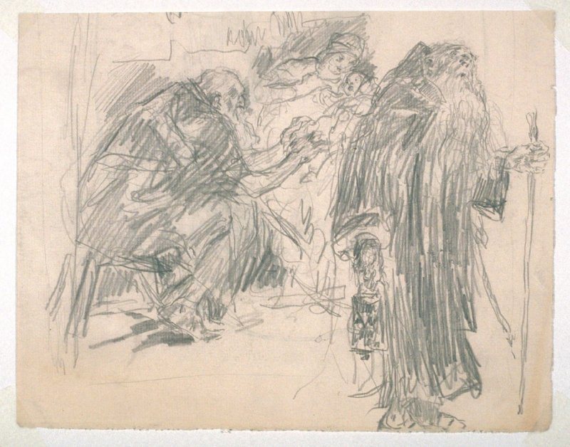 [Adoration of the Magi(?)] - One from the Studies and Sketches for the Murals in the New Amsterdam Theatre, New York