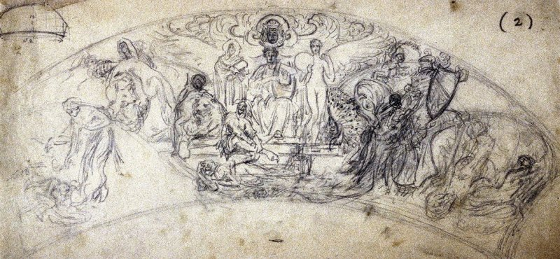 [Figure composition] - One from the Studies and Sketches for the Murals in the New Amsterdam Theatre, New York