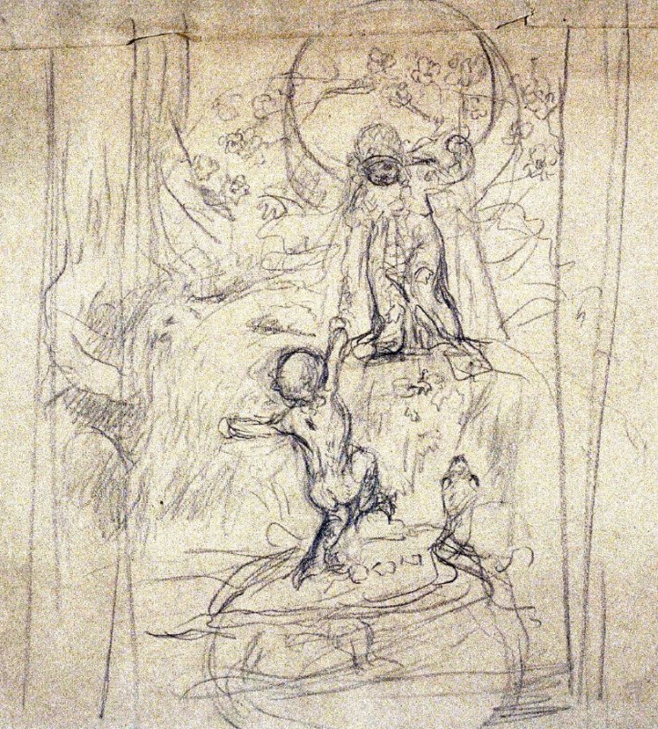 [Figure composition ] - One from the Studies and Sketches for the Murals in the New Amsterdam Theatre, New York