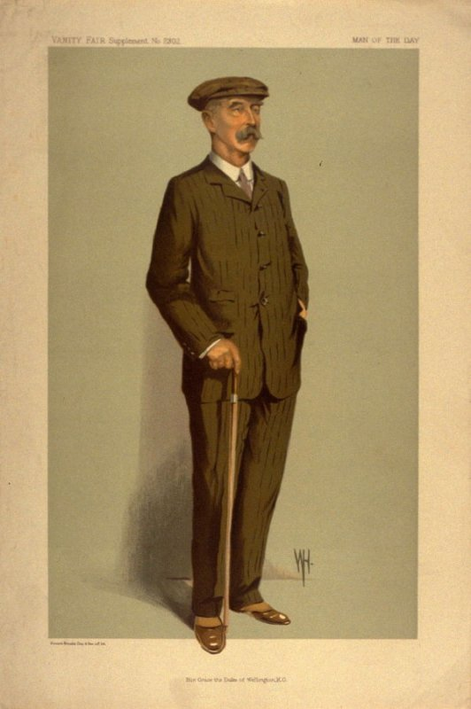 His Grace the Duke of Wellington, K.G., Men of the Day No. 2302, from Vanity Fair Supplement