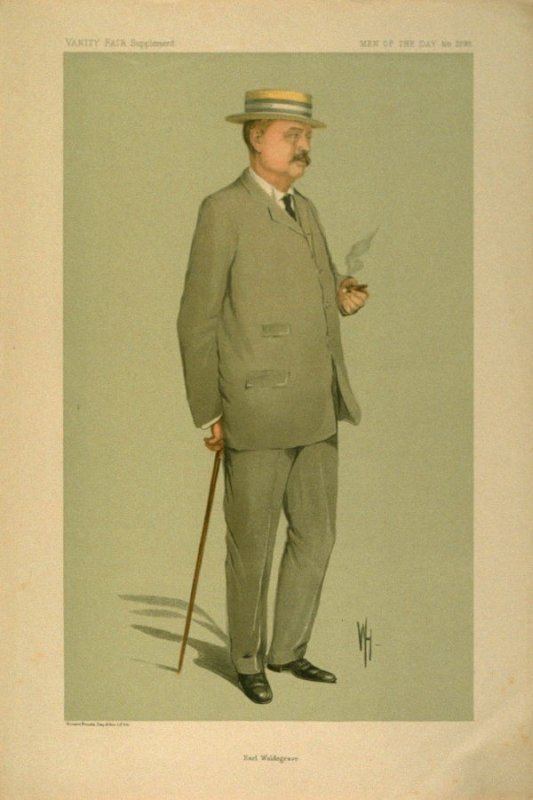 Earl Waldegrave, Men of the Day No. 2293, from Vanity Fair Supplement