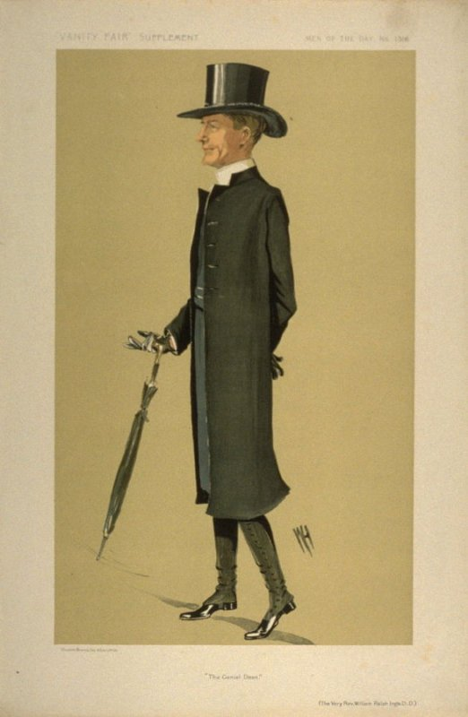 """""""The Genial Dean"""" (The Very Rev. William Ralph Inge.D.D.), Men of the Day No. 1316, from Vanity Fair Supplement"""