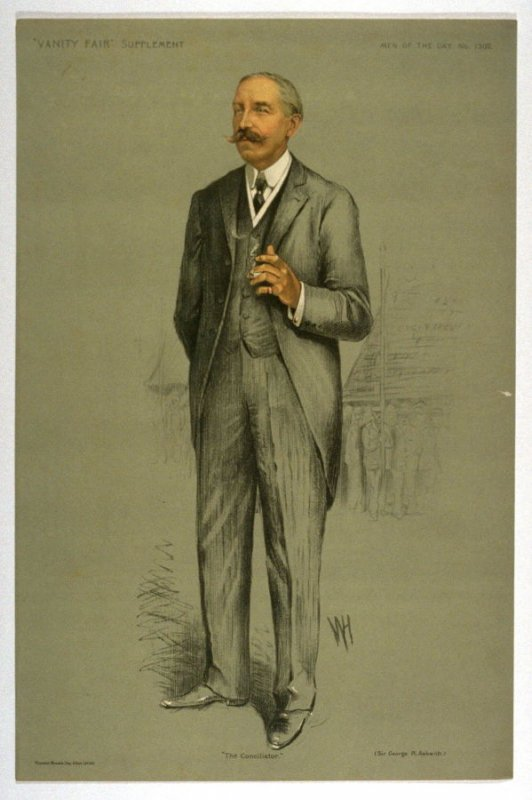 """""""The Conciliator"""" (Sir George R. Askwith.), Men of the Day No. 1302, from Vanity Fair Supplement"""