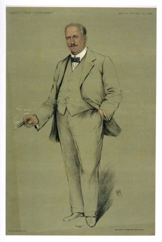 """""""Peggy"""" (Mr. Arthur Frederick Bettinson), Men of the Day No. 1305, from Vanity Fair Supplement"""