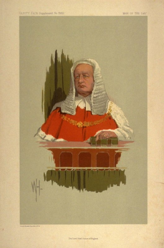 The Lord Chief Justice of England, Man of the Day No. 2307, from Vanity Fair Supplement