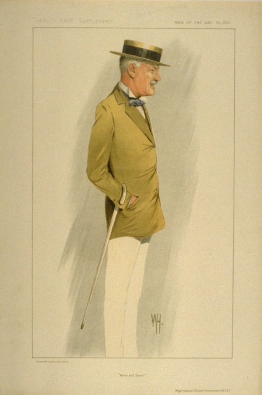 """""""Arms and Sport"""" (Major General, The Lord Cheylesmore, K.C.V.O.), Men of the Day, from Vanity Fair Supplement No. 2281"""