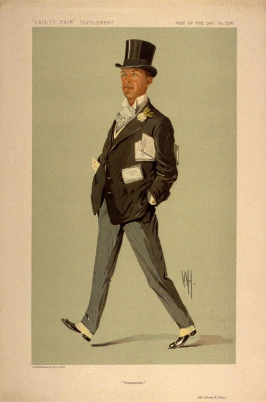 """""""Prospectuses"""" (Mr. Charles W. Coop), Men of the Day No. 2274, from Vanity Fair Supplement"""