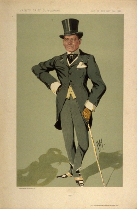 """Topps"" (Sir Charles Edward Cradock-Hartoop, Bart), Men of the Day No. 1323, from Vanity Fair Supplement"
