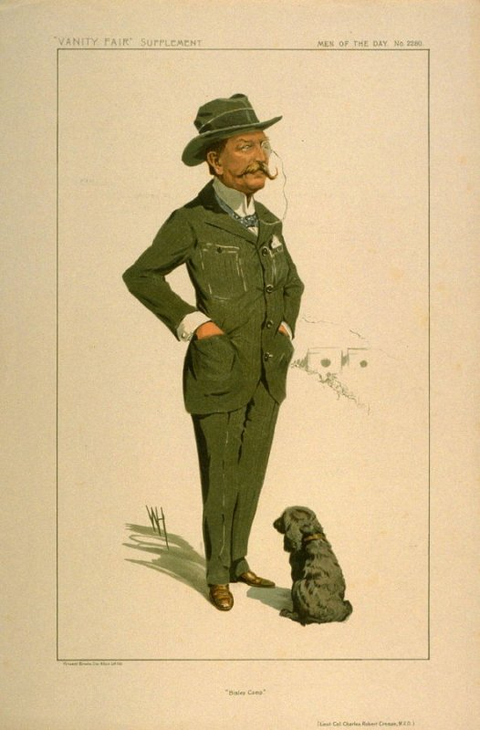 """""""Bisley Camp."""" (Lieut. Col. Charles Robert Crosse, M.V.O.), Men of the Day No. 2280, from Vanity Fair Supplement"""