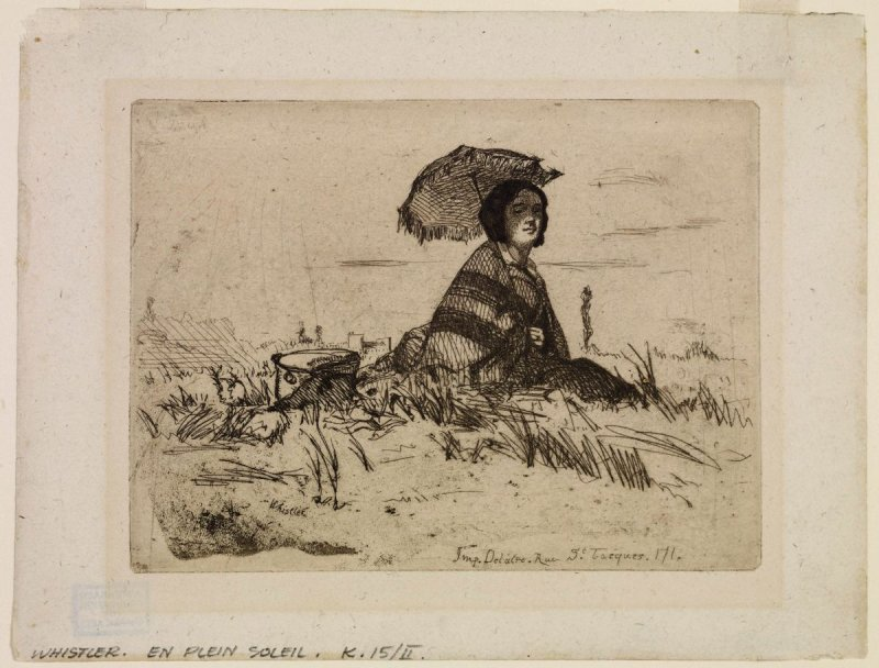 En plein soleil (In Full Sunlight), from the series Douze eaux-fortes d'après nature (Twelve Etchings from Nature)