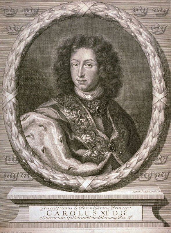 Portrait of King Charles XI of Sweden